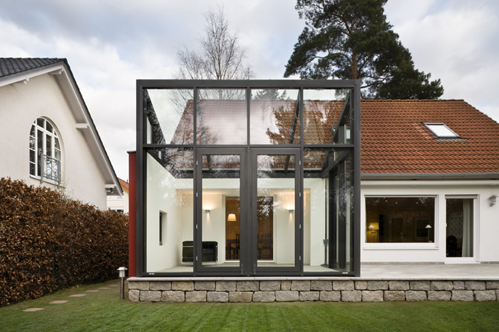 mt architekturb ro martina trixner projekte anbau eines wintergartens kleinmachnow. Black Bedroom Furniture Sets. Home Design Ideas